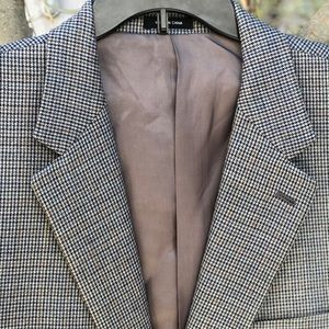 NW Ralph Lauren Silk Wool Plaid Sport Coat, Sz 48R